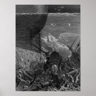 Escena 'de la escarcha del Mariner antiguo Poster