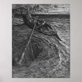 Escena 'de la escarcha del Mariner antiguo Posters