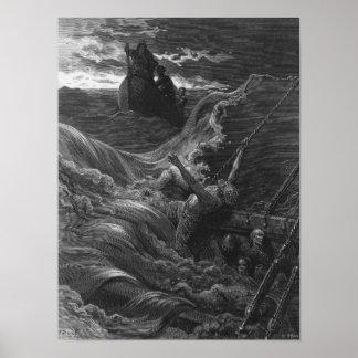 Escena 'de la escarcha del Mariner antiguo Póster