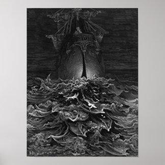 """Escena """"de la escarcha del marino antiguo"""" 2 poster"""