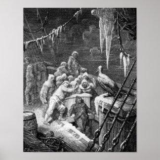 """Escena """"de la escarcha del marino antiguo"""" 3 posters"""