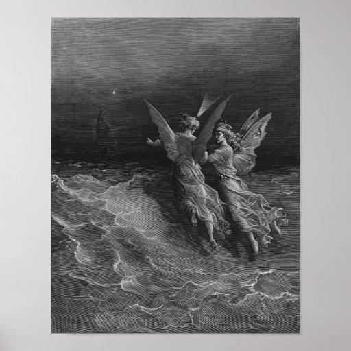 """Escena """"de la escarcha del marino antiguo"""" 3 póster"""