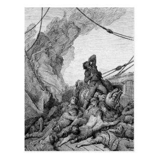 "Escena ""de la escarcha del marino antiguo"" 3 tarjeta postal"