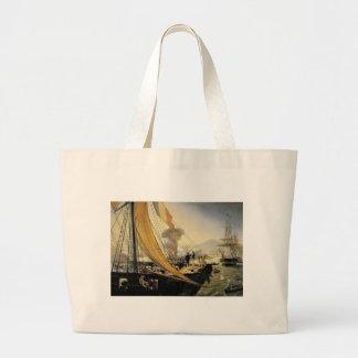 Escena de la expedición mexicana en 1838 bolsa tela grande