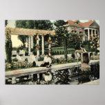 Escena de la flor del jardín, vintage 1914 de Los  Impresiones