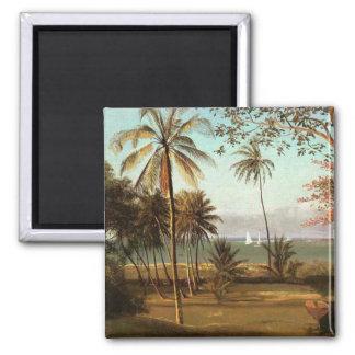 Escena de la Florida - Albert Bierstadt Imán Cuadrado