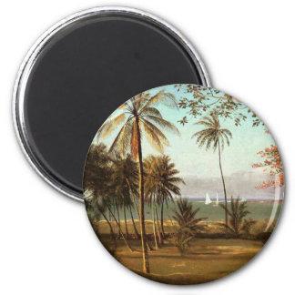 Escena de la Florida - Albert Bierstadt Imán Redondo 5 Cm