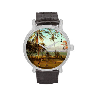 Escena de la Florida - pintura de Albert Bierstadt Reloj