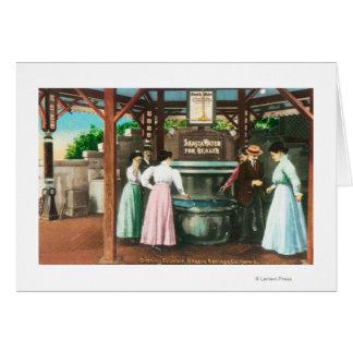 Escena de la fuente de consumición del agua de Sha Tarjeta De Felicitación