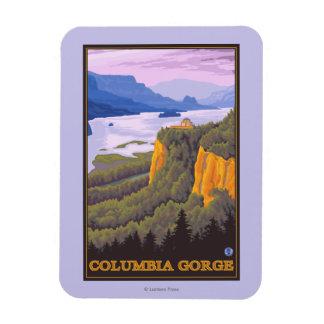 Escena de la garganta del río Columbia con el Imanes De Vinilo