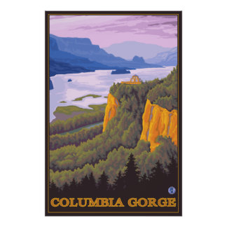 Escena de la garganta del río Columbia con el punt Impresiones