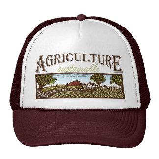 Escena de la granja de la agricultura sostenible gorras de camionero