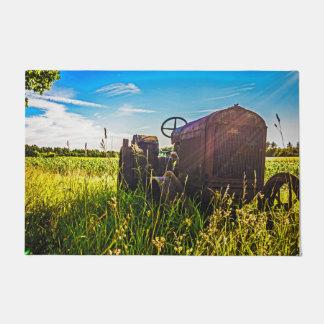 Escena de la granja del país felpudo