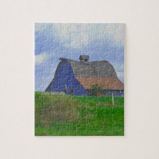 Escena de la granja del país puzzle con fotos
