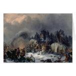 Escena de la guerra Ruso-Francesa en 1812 Tarjetas