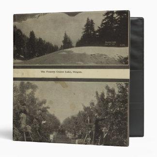 """Escena de la huerta de Oregon del lago crater Carpeta 1 1/2"""""""