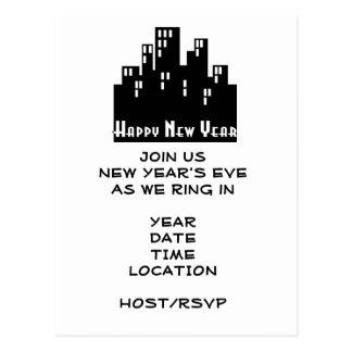 Escena de la Invitación-Ciudad del fiesta de Noche Tarjetas Postales