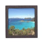 Escena de la isla caribeña cajas de joyas de calidad