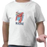 Escena de la langosta y del faro de Portland Camisetas