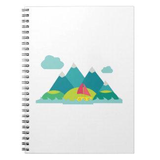 Escena de la montaña libro de apuntes