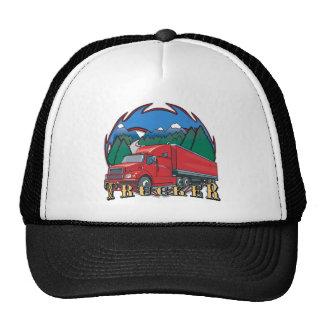 Escena de la montaña del camionero gorras