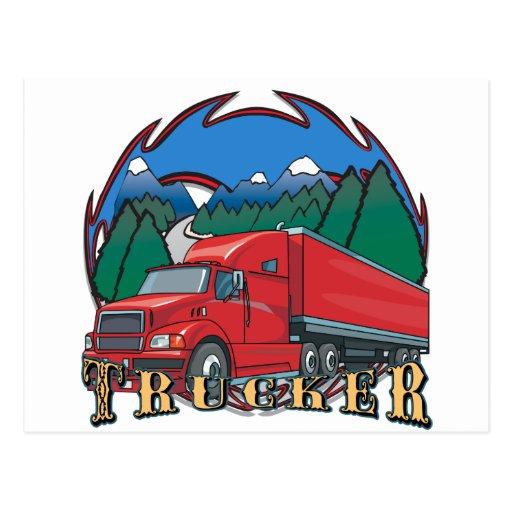 Escena de la montaña del camionero postal