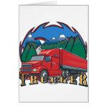 Escena de la montaña del camionero tarjeta