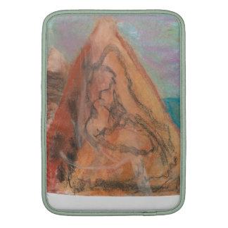Escena de la montaña en tizas funda macbook air