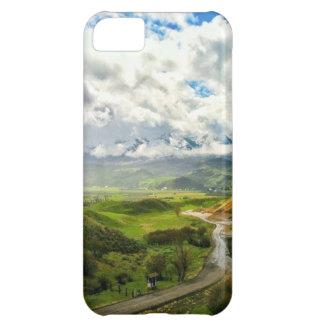 Escena de la montaña, naturaleza 02 funda para iPhone 5C