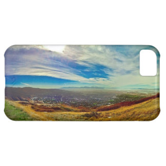 Escena de la montaña, paisaje 03 de la naturaleza funda para iPhone 5C