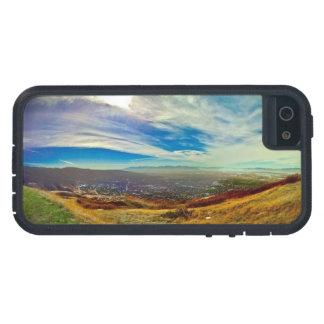 Escena de la montaña, paisaje 03 de la naturaleza iPhone 5 carcasa