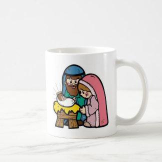 Escena de la natividad con el bebé Jesús Taza De Café