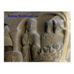 Escena de la natividad con Maria y el niño Postal