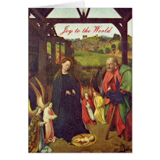 Escena de la natividad de Petrus Christus Tarjetas