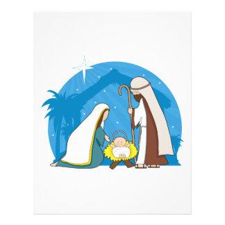 """Escena de la natividad folleto 8.5"""" x 11"""""""