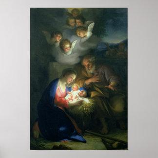 Escena de la natividad póster