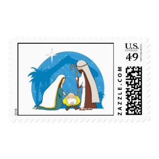 Escena de la natividad sellos