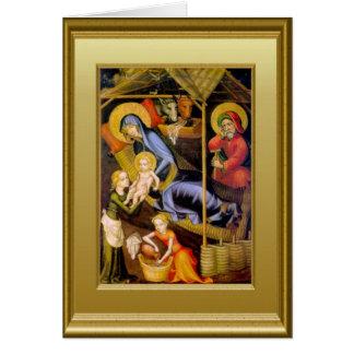 Escena de la natividad tarjeta de felicitación