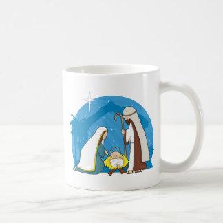 Escena de la natividad taza de café