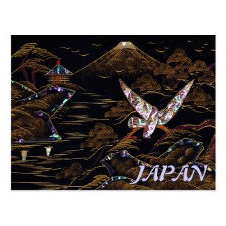 Escena de la naturaleza de Japón el monte Fuji Postal