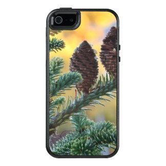Escena de la naturaleza de los arbolados de los funda otterbox para iPhone 5/5s/SE