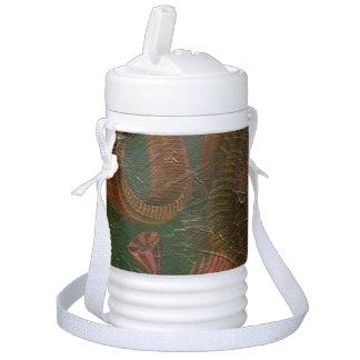 Escena de la naturaleza del vintage enfriador de bebida igloo
