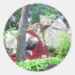 Escena de la naturaleza pegatina redonda