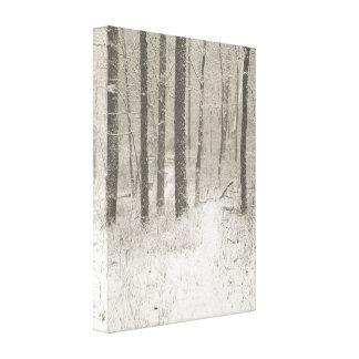 Escena de la nieve de la sepia lona envuelta para galerias