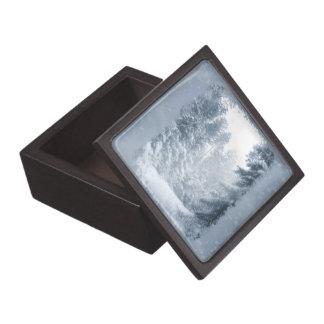 Escena de la nieve del navidad del país de las caja de regalo de calidad
