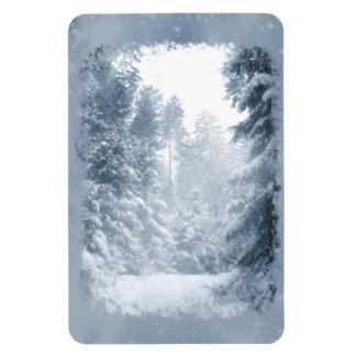 Escena de la nieve del navidad del país de las imanes flexibles