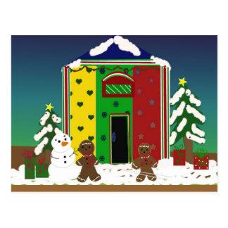 Escena de la nieve del navidad postales