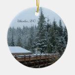 Escena de la nieve en marmota, A.C. Adornos De Navidad