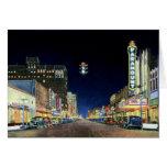 Escena de la noche de Amarillo en la calle de Polk Tarjeta De Felicitación
