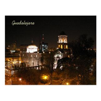 Escena de la noche de Guadalajara Postal